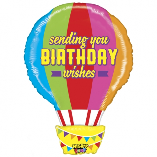 Sending you birthday wishes hot air