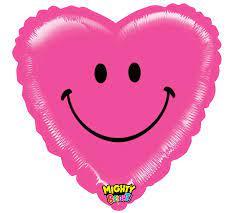 Smiley Hart roze
