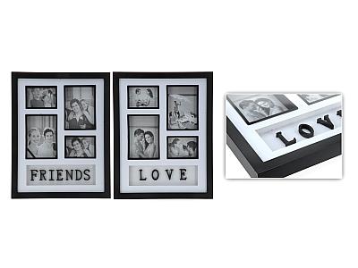 Love/friends fotolijst zwart