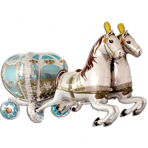 Koets met paarden 3D