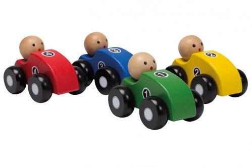 Jouéco - Houten auto s 4 assorti