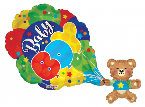 Baby Boy Bear en Balloons