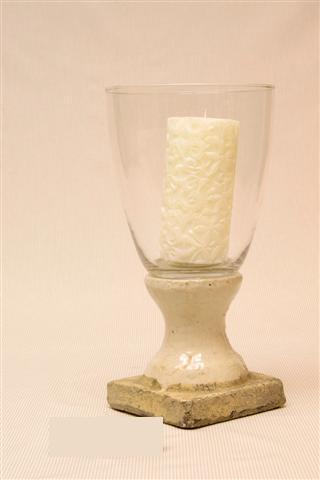 Glas op aardewerk, Windlicht