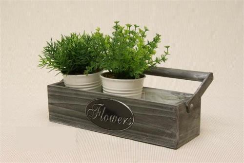 Houten bak flowers