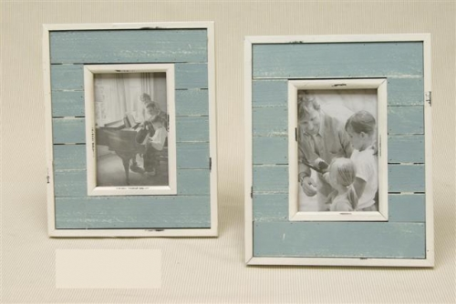 Fotolijst hout blauw