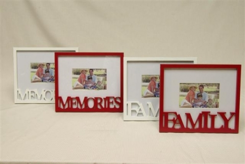 Fotolijst family memory wit rood