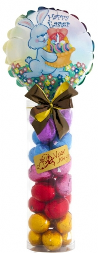 Balloon & Candy koker Easter Bunny Chocolade Paaseitjes Ass.
