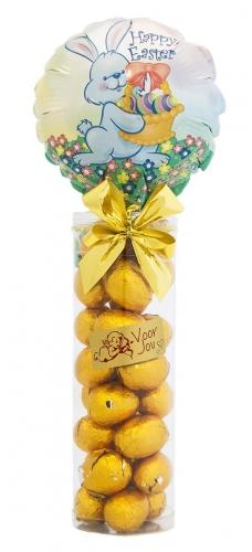 Balloon & Candy koker Easter Bunny Chocolade Paaseitjes Puur Advocaat