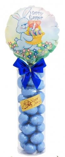 Balloon & Candy koker Easter Bunny Melk Chocolade Paaseitjes