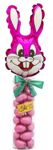 Balloon & Candy koker Haas Roze Wit Praliné
