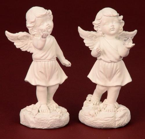 Engel staand met ster 15,5 cm