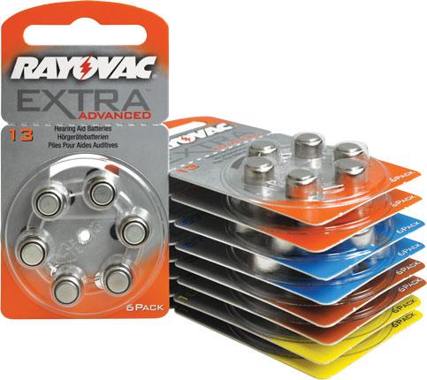 Rayovac Extra Advenced P13 Batterijen