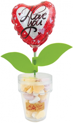 Flower Candy I love you heart and stripes