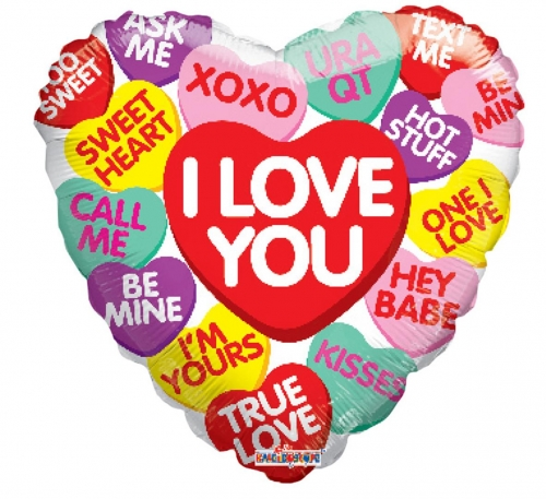 HD Candy Hearts message SL