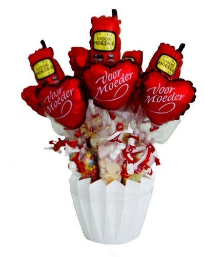 Baby Balloon & Candy Cornets Voor Moeder