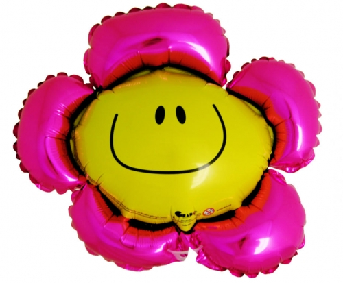 Smiley Flower Roze