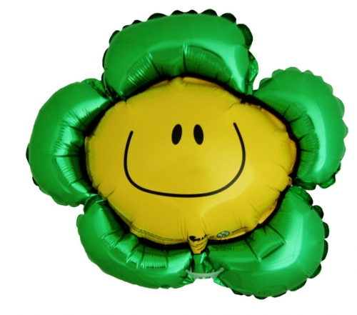 Smiley Flower Groen