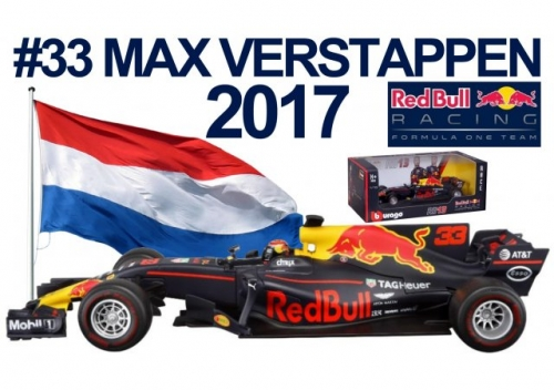 MAX VERSTAPPEN RED BULL RACING RB13 schaal 1:18