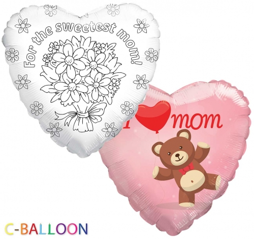 C-Balloon Kit I love you mom bear