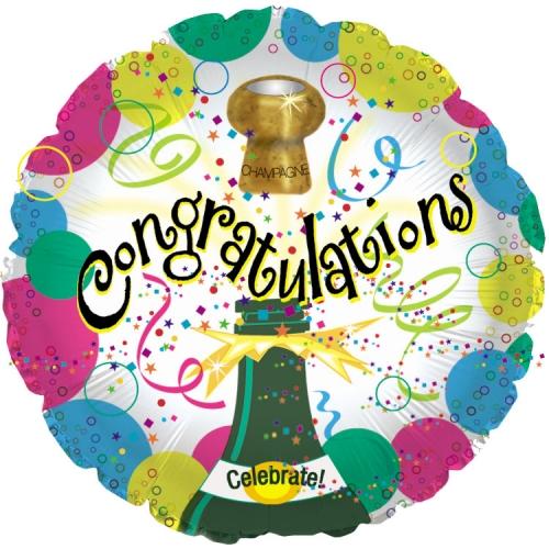 Congrats Champagne Bubbles