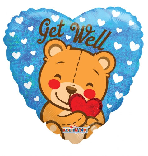 Get Well Bear Holographic ML