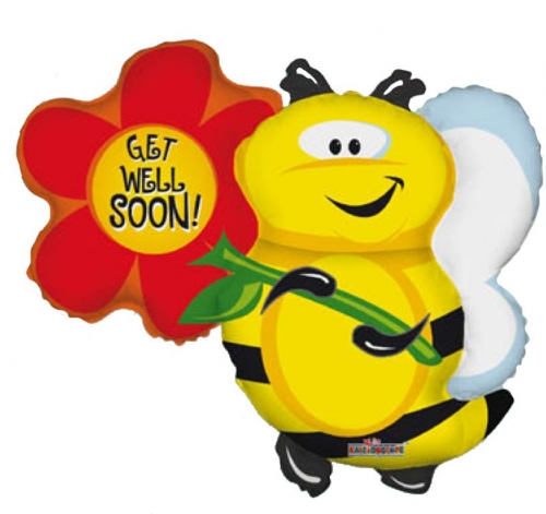 Get well Bee with flowers
