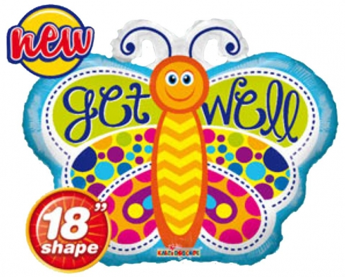 Get Well Butterfly Shape