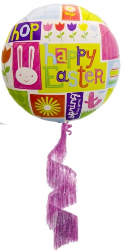 Happy Easter Airwalker Coil Tail Balloon