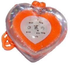 Glitter hart Oranje met 5 LED\\\'s