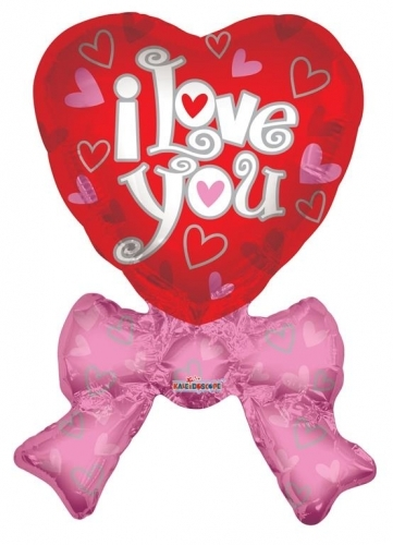 I love you heart with bow JU