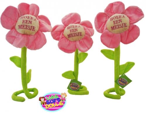 Pluche Flower Hoera een Meisje