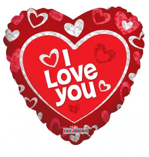 I love you floating hearts