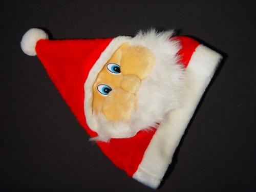 Kinder Kerstmuts Gezicht Kerstman