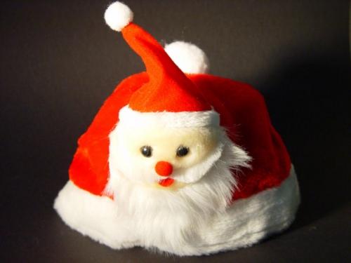 Kinder kerstmuts met pluche kerstman