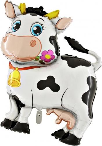 Koe met bloem SH