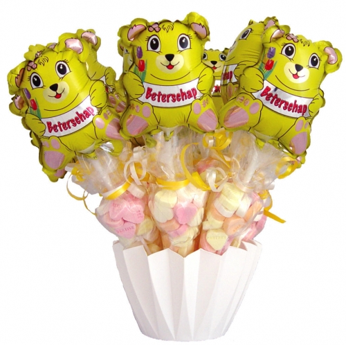 Baby Balloon & Candy Cornets Beterschap Beer