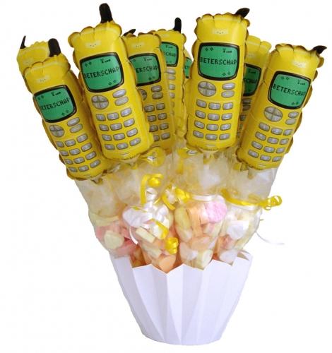 Baby Balloon & Candy Cornets Beterschap Telefoon