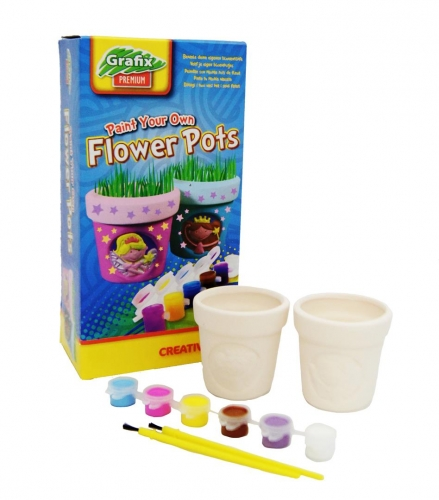 Paint your own flower pots