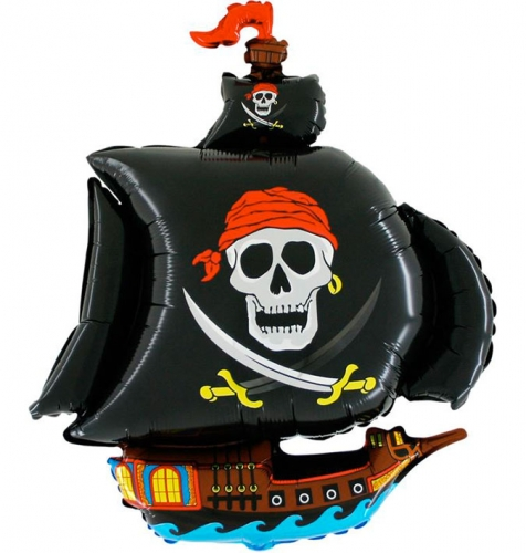 Piratenboot zwart