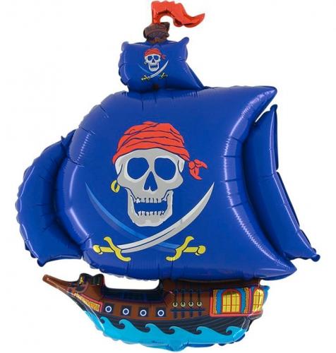 Piratenboot blauw