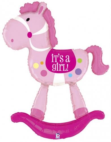 Multi Ballon Rocking Horse Girl