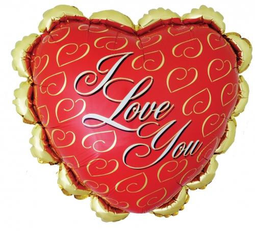Ruffled Heart I Love You