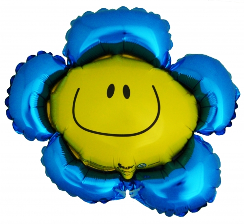 Smiley Flower Blauw ML