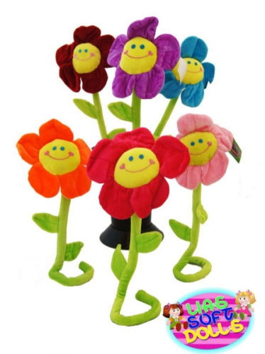 Pluche Smiley Flowers LDS-011