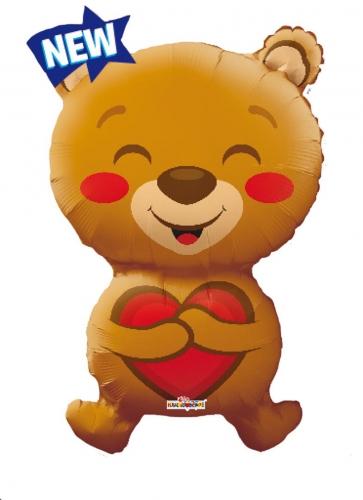 Smiling bear Love Shape
