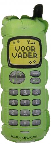 Telefoon voor vader groen MC