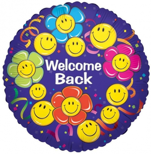 Welcome Back Smiley Flowers  SL